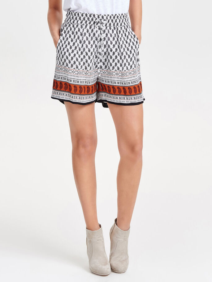 PRINTED SHORTS, Cloud Dancer, large