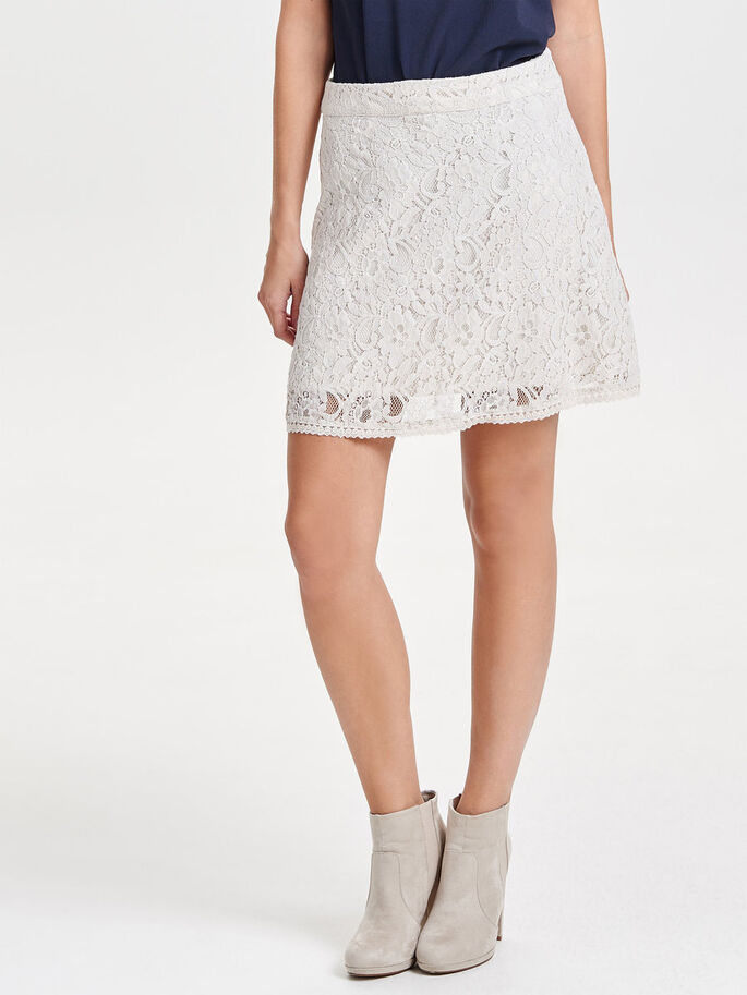 LACE SKIRT, Pumice Stone, large