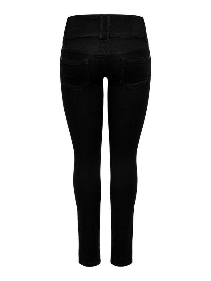 ANEMONE, WEICH SKINNY FIT JEANS, Black, large