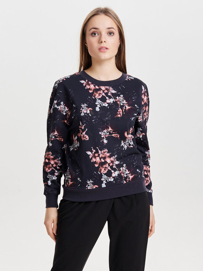 MØNSTRET SWEATSHIRT, Deep Well, large