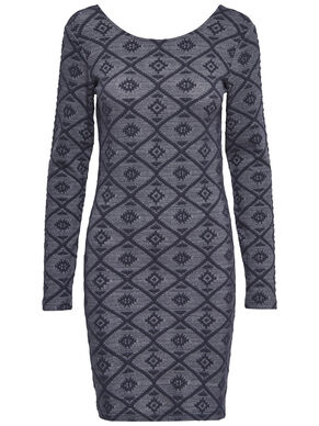 PATTERNED LONG SLEEVED DRESS