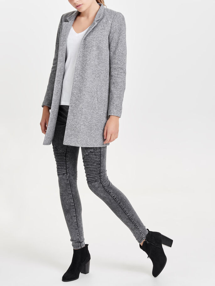 KLASSISK BLAZER, Dark Grey Melange, large