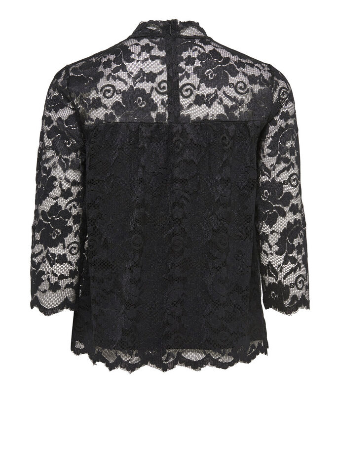 BLONDE TOP MED 3/4-ÆRMER, Black, large