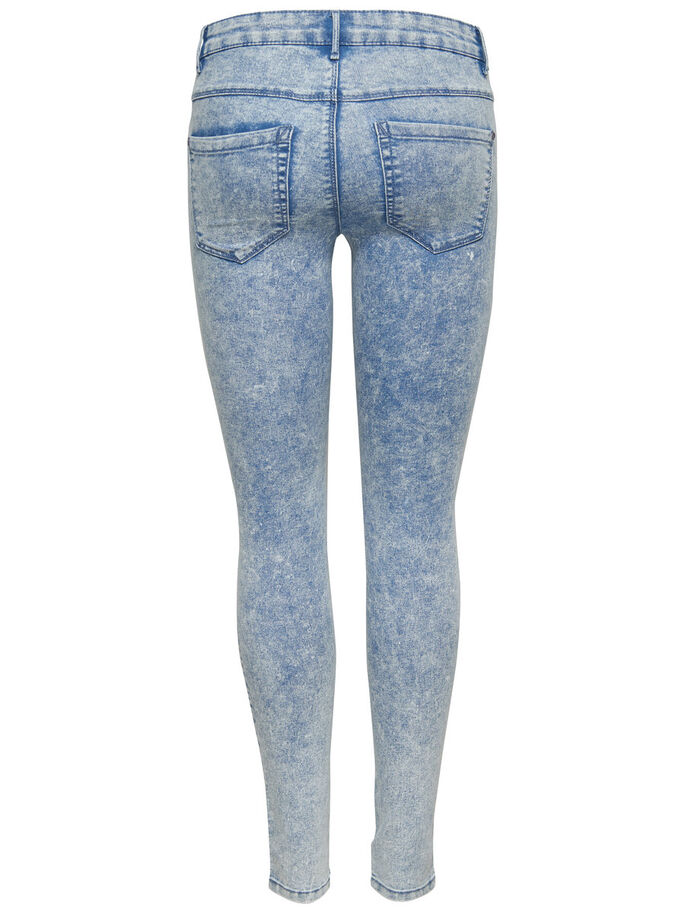 ROYAL REG BIKER SKINNY JEANS, Light Blue Denim, large