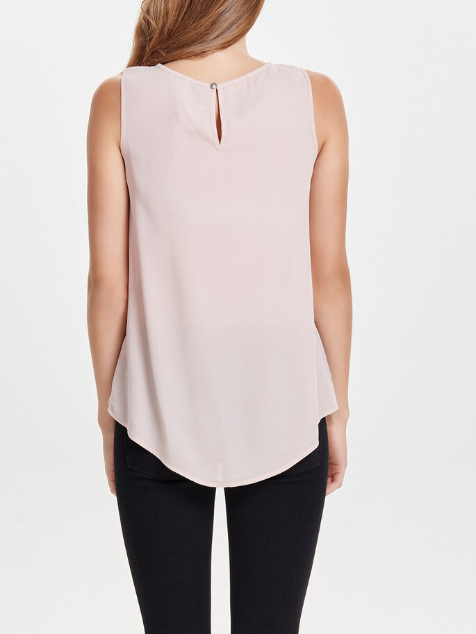 KANTEN MOUWLOZE TOP, Rose Dust, large