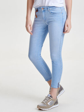 CARMEN REG CROP ZIP JEANS REGULAR FIT