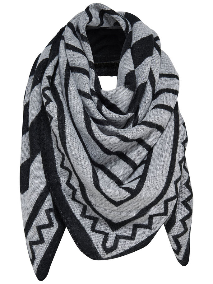PATTERN SCARF, Black, large