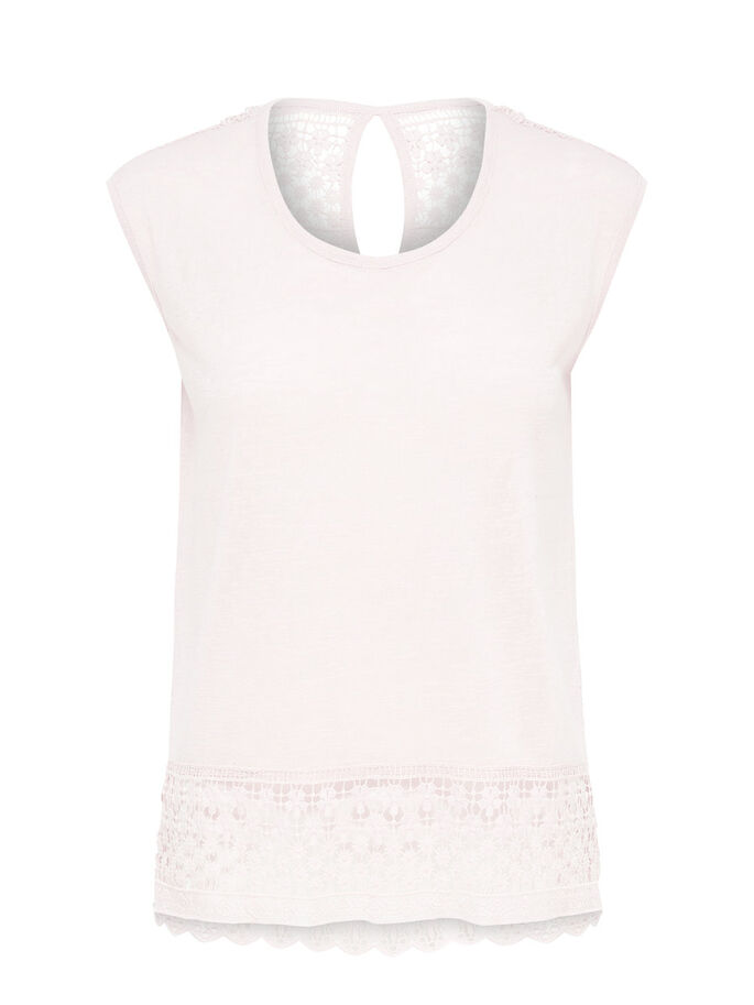 ENCAJE TOP SIN MANGAS, Peach Whip, large