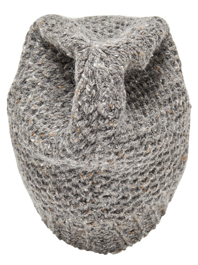 KNITTED HAT, Deep Taupe, large