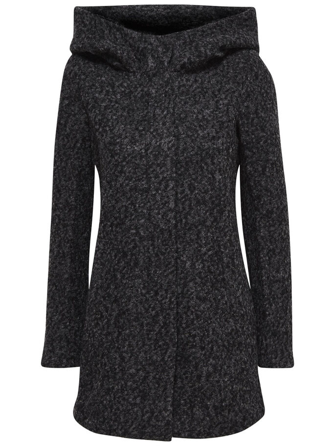 WOOL COAT, Dark Grey Melange, large