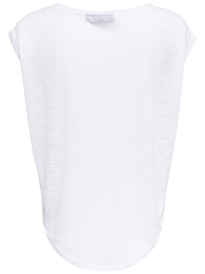 PRINTET SPORTS TOP, White, large