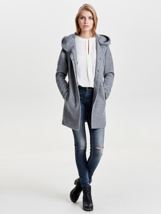 SOLID COAT, Light Grey Melange, large