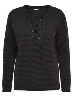 LACE UP LONG SLEEVED TOP