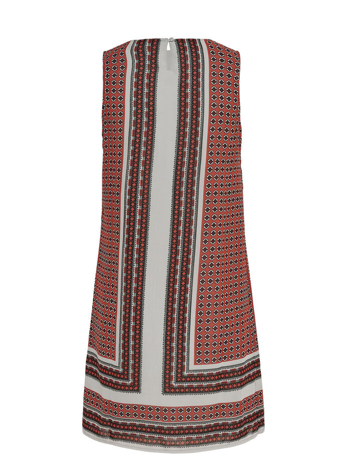 PRINTED SLEEVELESS DRESS, Marsala, large