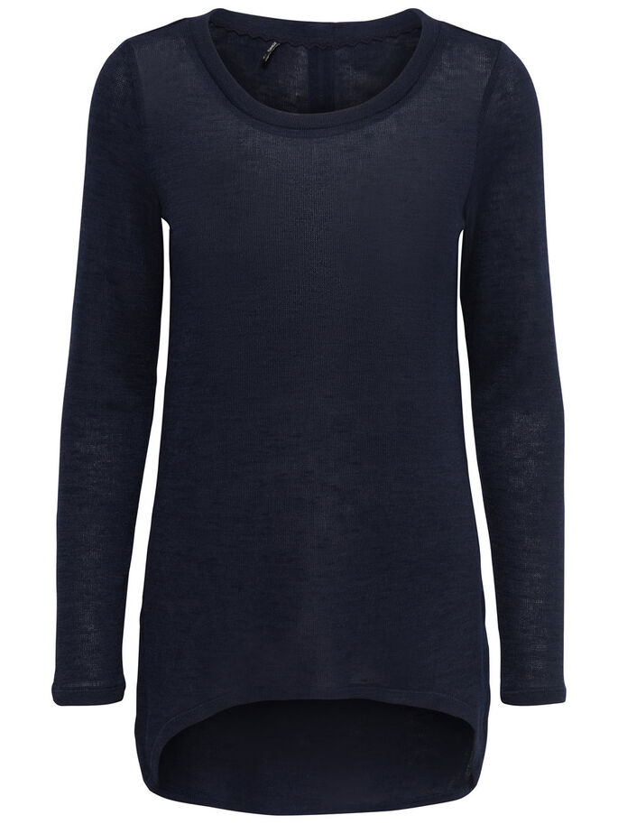 DETAILED LONG SLEEVED TOP, Night Sky, large