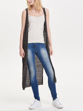 LONG KNITTED WAISTCOAT