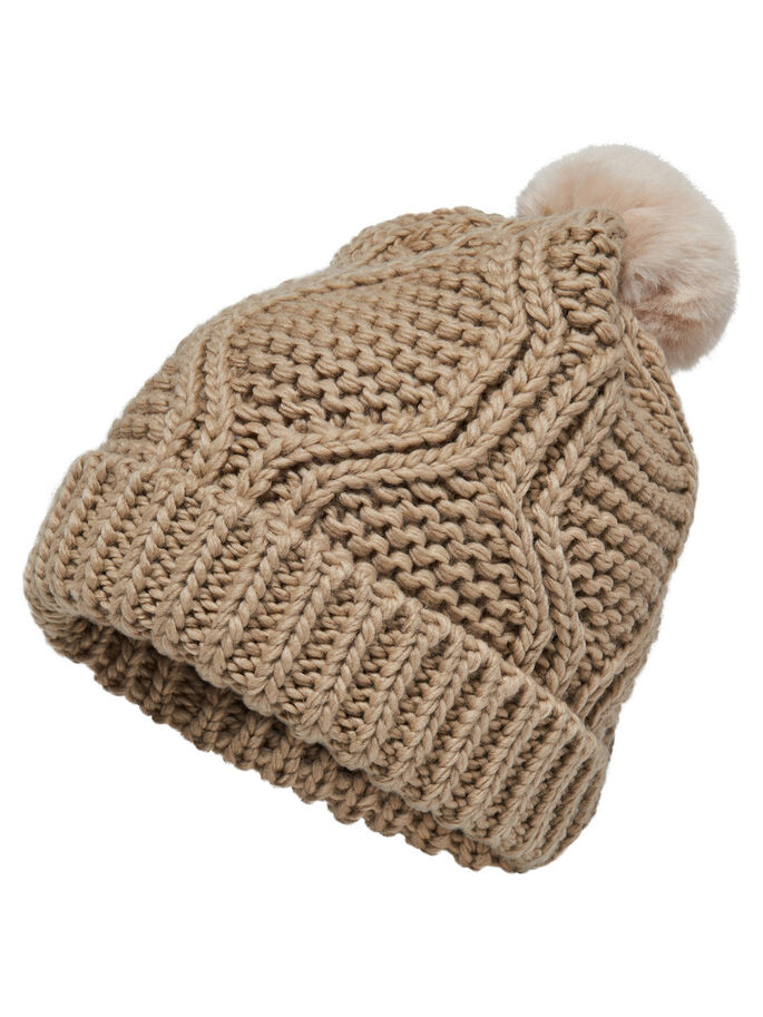 KNITTED HAT, Ginger Root, large