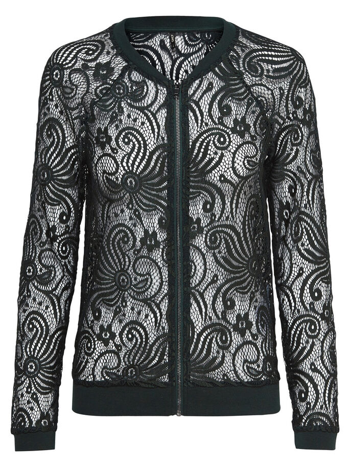 LACE BOMBER JACKET, Scarab, large