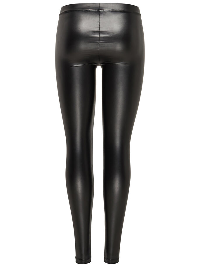 SHINY LEGGINGS, Black, large
