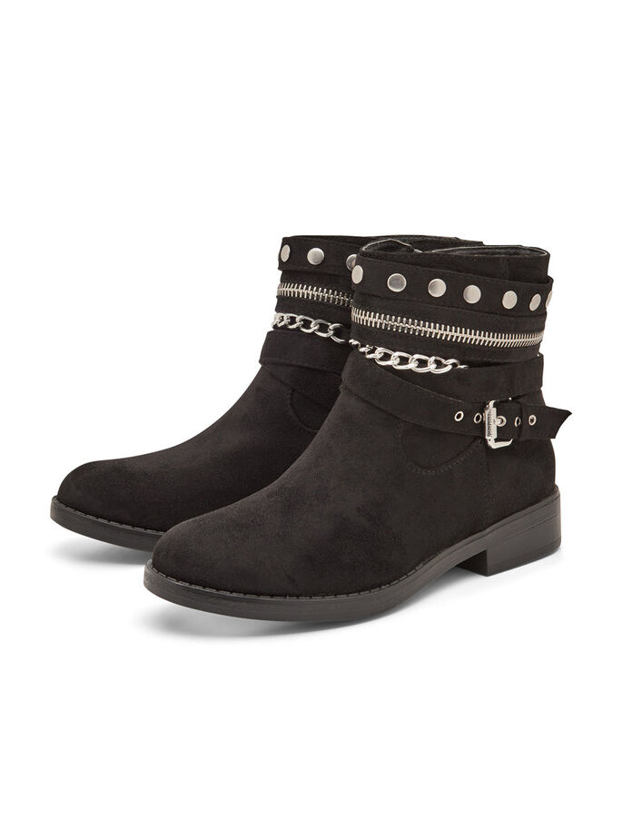 CHAIN SHORT BOOTS, Black, large