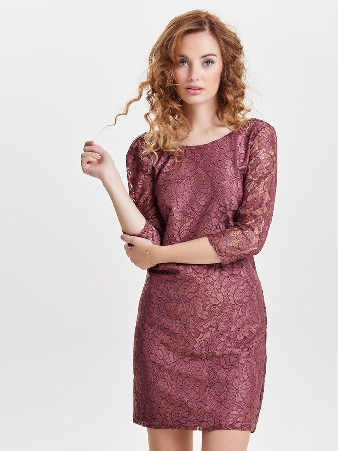 LACE DRESS, Withered Rose, large