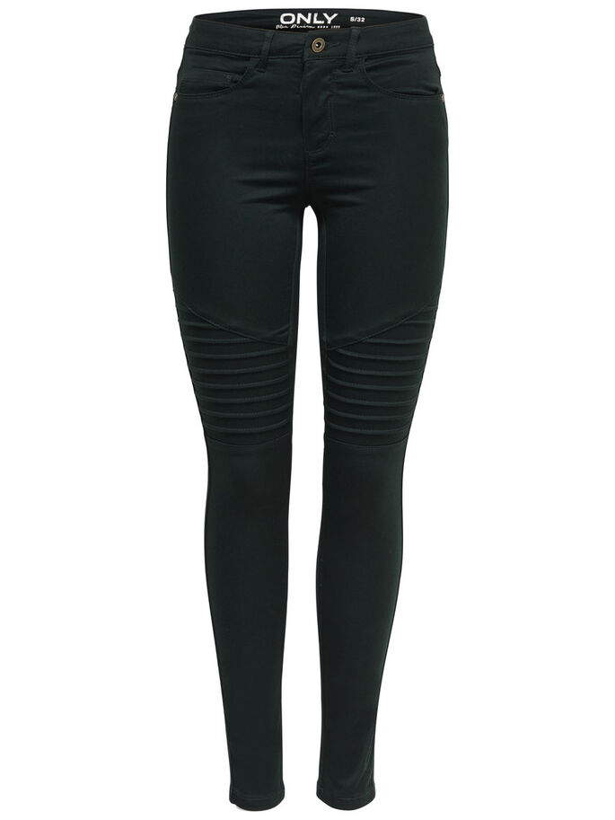 ROYAL NORMALHÖGA BIKERINSPIRERADE ENFÄRGADE SKINNY FIT-JEANS, Jet Set, large