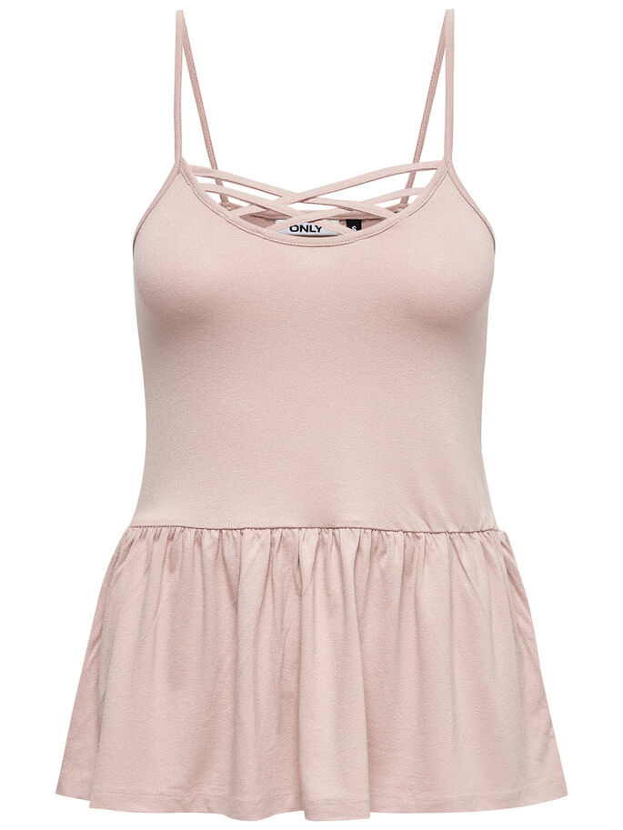 DETAILED SLEEVELESS TOP, Adobe Rose, large