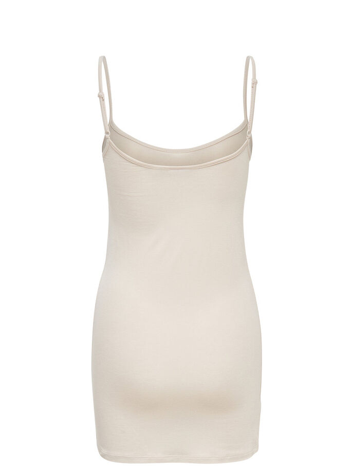 LONG SLEEVELESS TOP, Pumice Stone, large