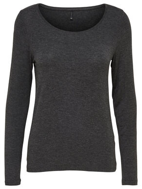 KNITTED LONG SLEEVED TOP