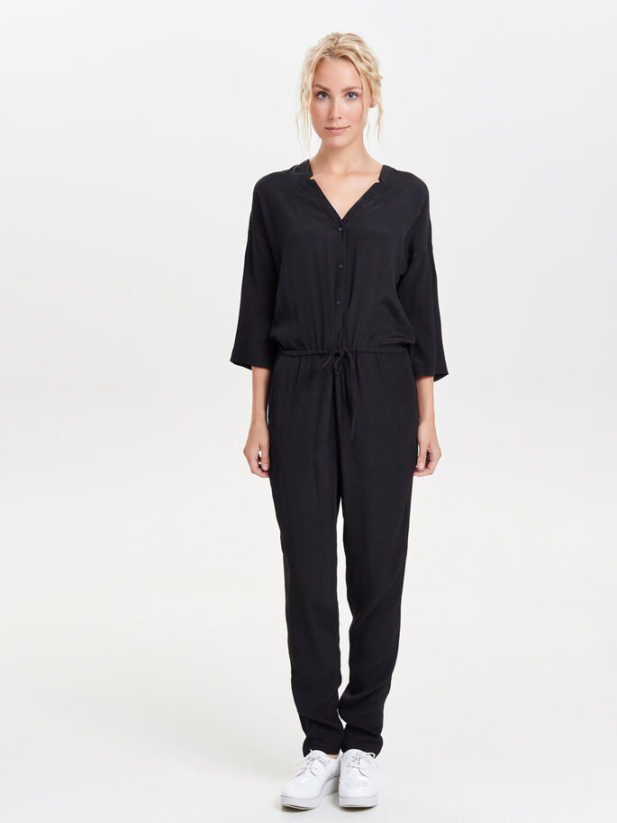 LÄSSIGER JUMPSUIT, Black, large