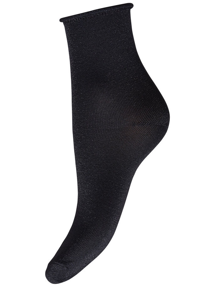 GLITZER- SOCKEN, Black, large