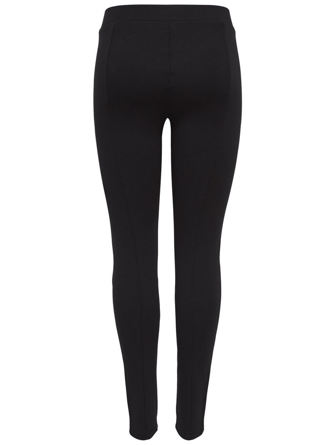 REISSVERSCHLUSS- LEGGINGS, Black, large