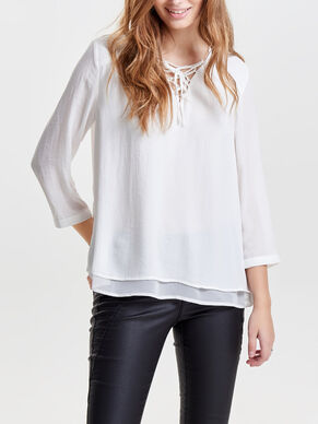 SOLID 3/4 SLEEVED TOP