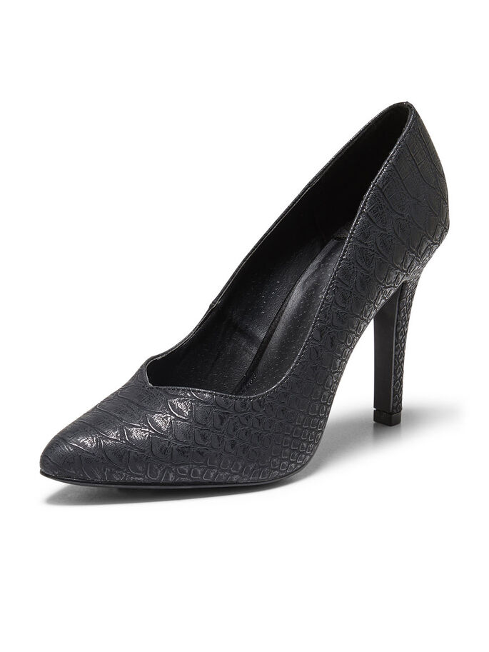 ORMSKINNSLIKNANDE PUMPS, Black, large
