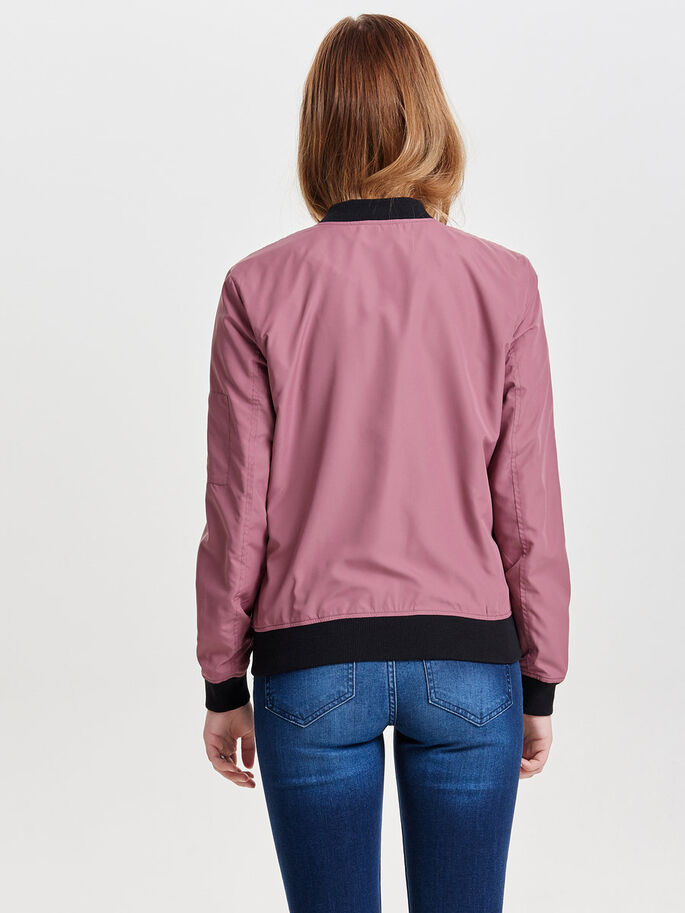 BOMBER JACKET, Rose Brown, large