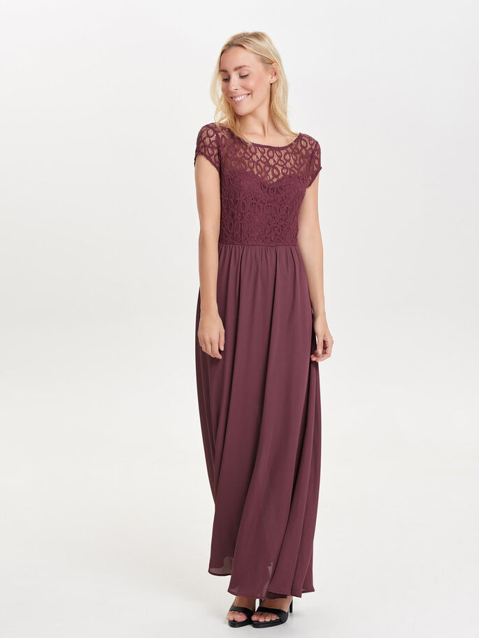LACE MAXI DRESS, Plum Wine, large