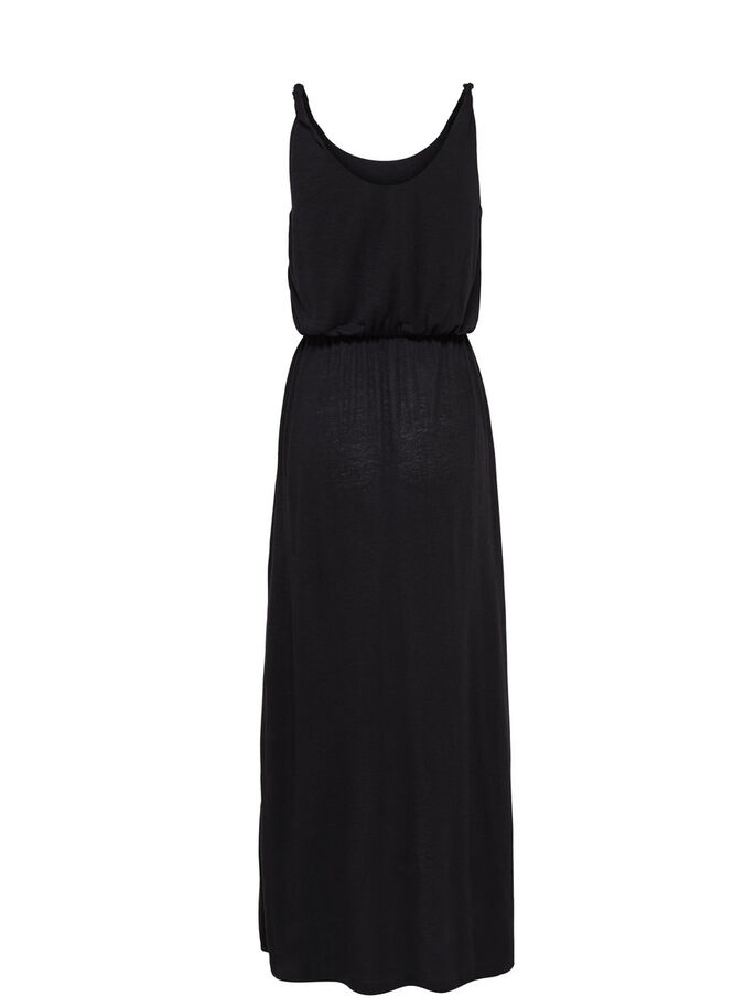 LONG SLEEVELESS DRESS, Black, large