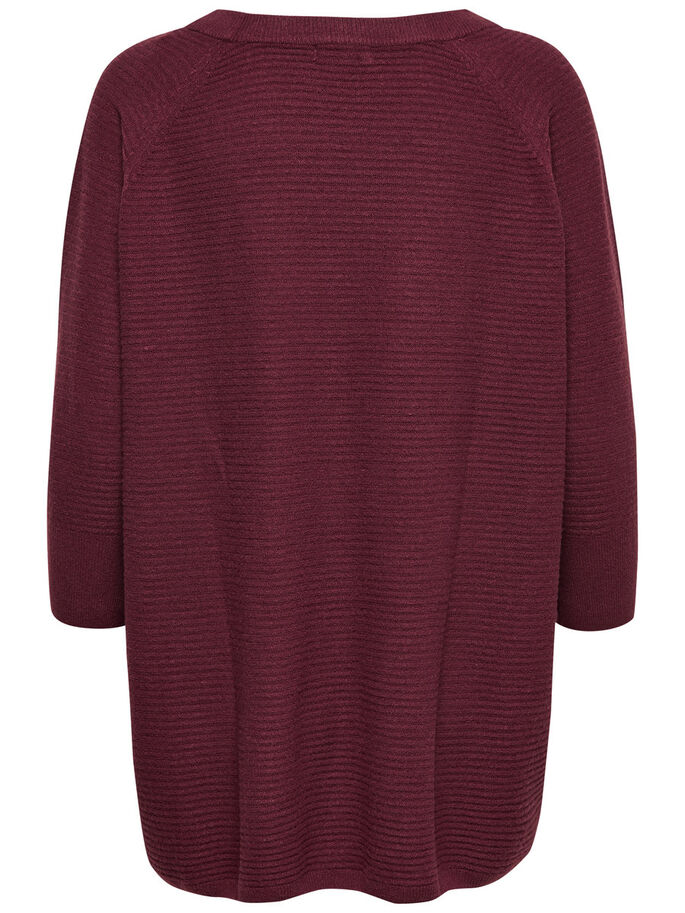 LÄSSIGER STRICKPULLOVER, Windsor Wine, large