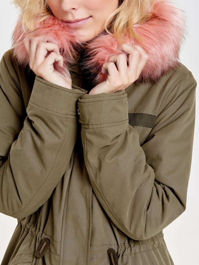 LONG PARKA COAT, Tarmac, large