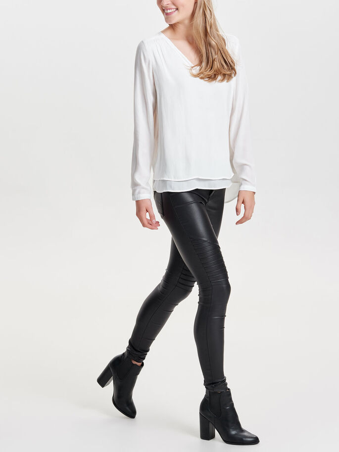 LOOSE LONG SLEEVED TOP, Cloud Dancer, large