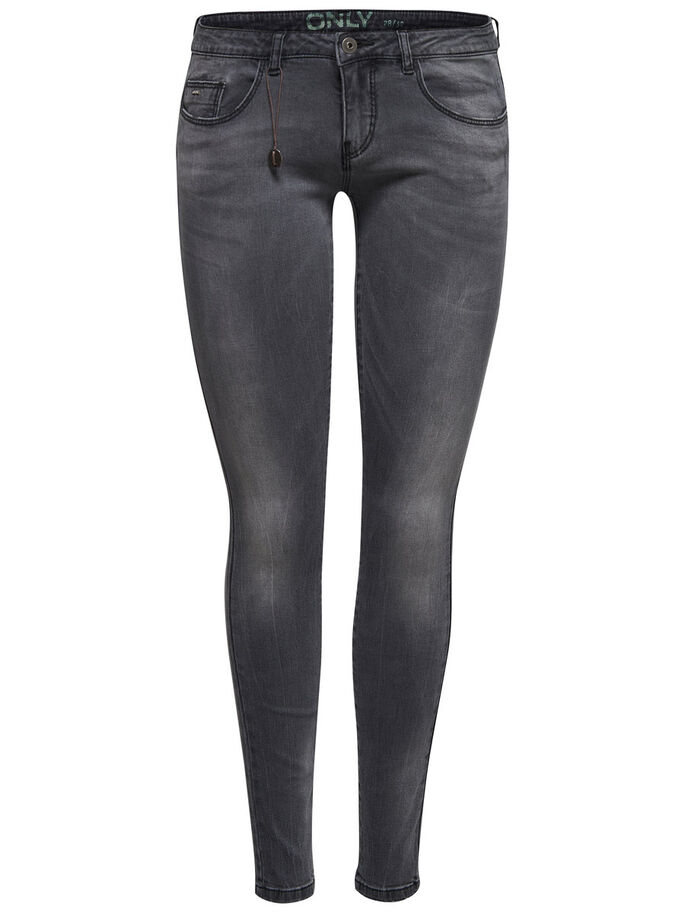 CORAL SUPERLÅGA SKINNY FIT-JEANS, Medium Grey Denim, large