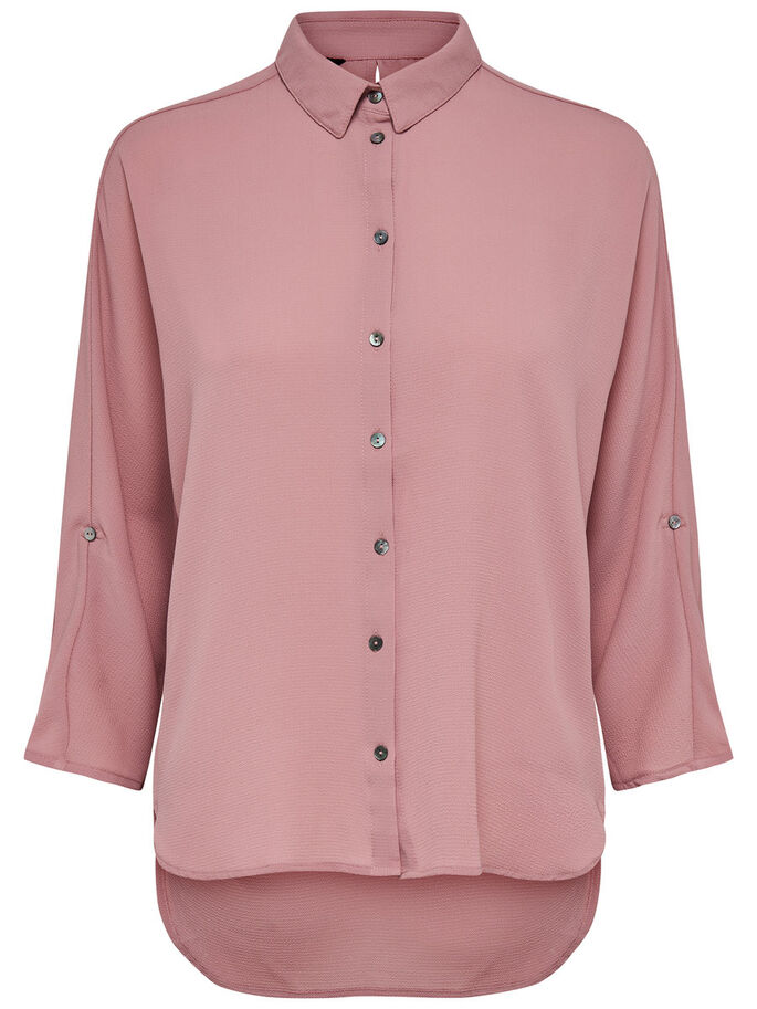SOLID BATSLEEVE SHIRT, Ash Rose, large
