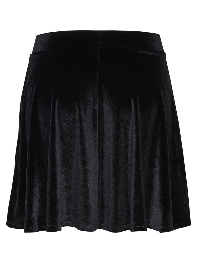 VELVET SKATER SKIRT, Black, large