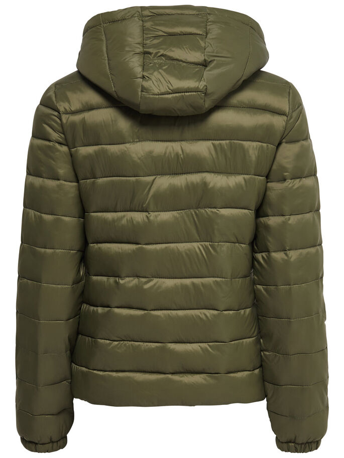 NYLON QUILTED JACKET, Dark Olive, large