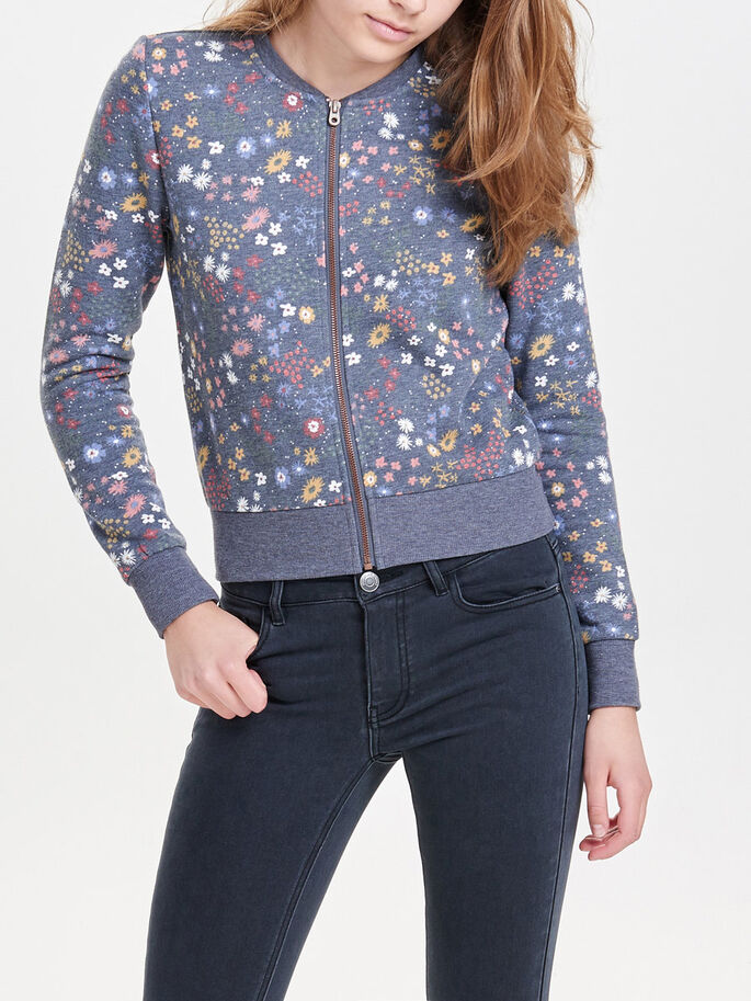 BOMBER SWEAT JACKET, Night Sky, large
