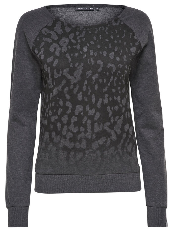 SWEAT SPORTSTOPP, Dark Grey Melange, large