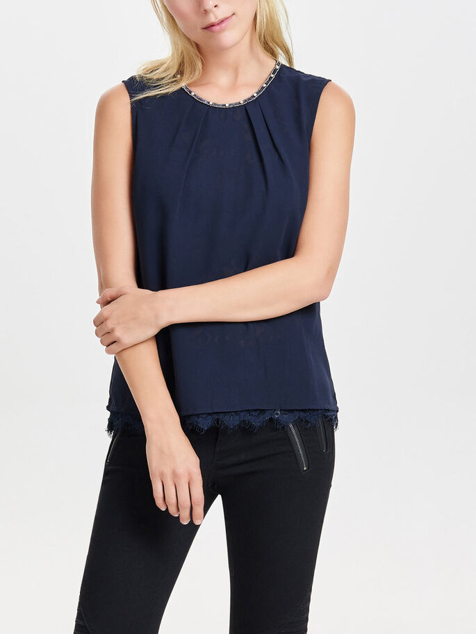 DETAILED SLEEVELESS TOP, Night Sky, large