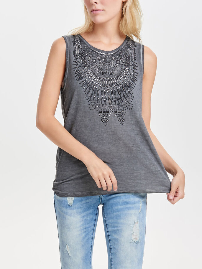 DETAILED SLEEVELESS TOP, Phantom, large