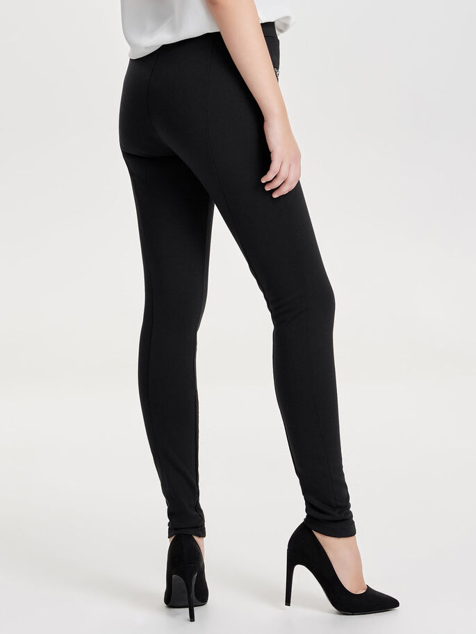 DETALJERET LEGGINGS, Black, large