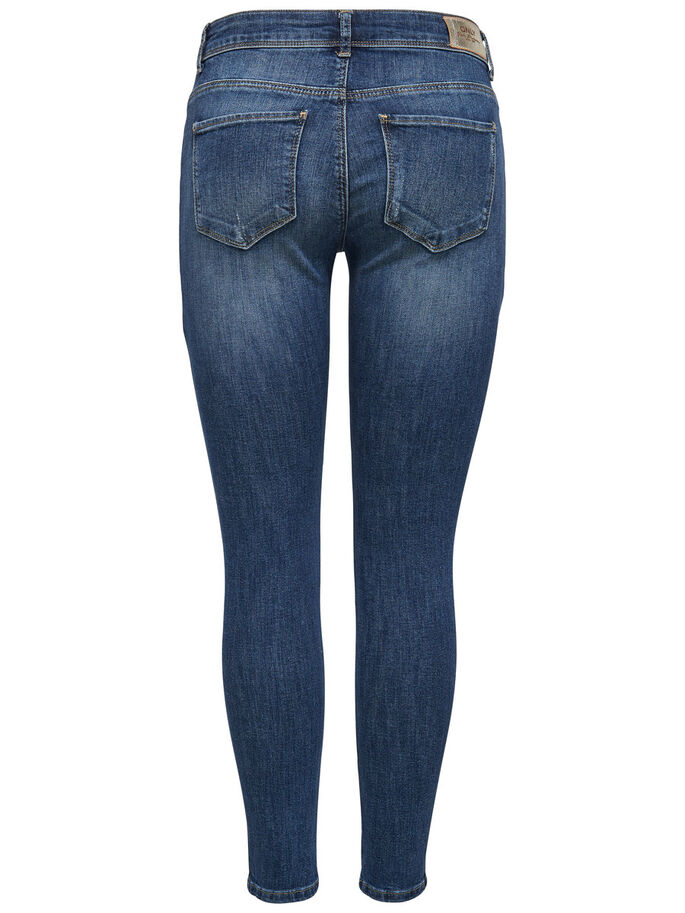 CARMEN NORMALHÖGA ANKELLÅNGA SKINNY FIT-JEANS, Medium Blue Denim, large